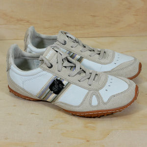 Diesel Cheju White Beige Suede Leather Sneakers